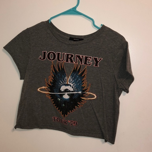 6626e448ffa Forever 21 Shirts & Tops   Journey Band Crop Top   Poshmark
